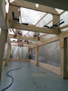 Installation des Temperaturfühlers.