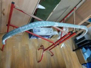 Auflaminieren Glasfaser.
